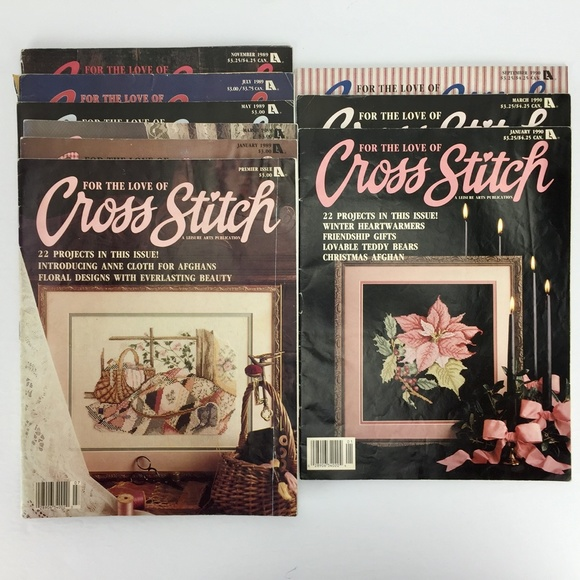 For the Love of Cross Stitch Magazine - 9 Issues